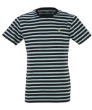 Cleptomanicx Classic Stripe 2 T-Shirt Basic Tee Black...