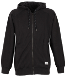 Cleptomanicx Jonin 2 Hooded Zipper Herren Sweatjacke Black