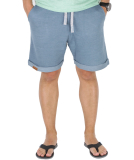 Shisha Stoot Shorts Herren kurze Hose Stone Blue Flame S
