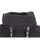 Shisha Kroon Hooded Damen Pullover Anthracite Melange