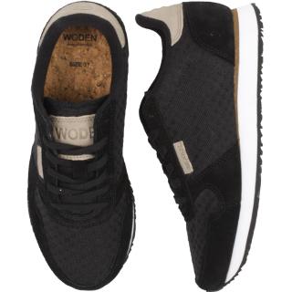 Woden Ydun Suede Mesh Sneaker Damen Schuh Black schwarz