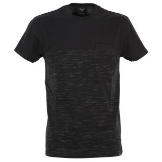 Iriedaily Mesh Block T-Shirt Black Mel XL