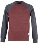 Element Meridian Block Crewneck Pullover Oxblood Red