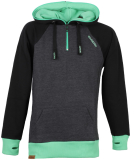 Shisha AX-1 Hooded Pullover Black Irish Green