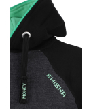 Shisha AX-1 Hooded Pullover Black Irish Green