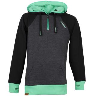 Shisha AX-1 Hooded Pullover Black Irish Green S