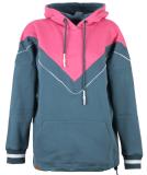 Shisha 90s-Tied Hooded Pullover Stargazar Pink Flambe M