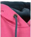 Shisha 90s-Tied Hooded Pullover Stargazar Pink Flambe L