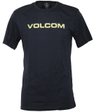 Volcom Crisp Euro Basic Herren T-Shirt Navy blau