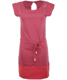 Ragwear Soho Stripes Kleid Chili Red