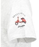 Brave Soul 149 Travel T-Shirt Ecru Marl