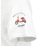 Brave Soul 149 Travel T-Shirt Ecru Marl M