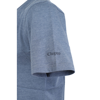 Cleptomanicx Mowe T-Shirt Basic Heather Blue Dark Navy