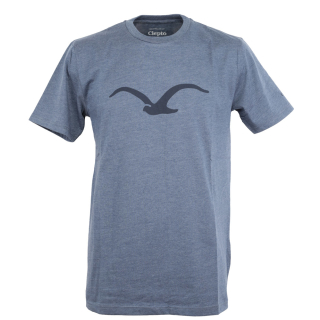 Cleptomanicx Mowe T-Shirt Basic Heather Blue Dark Navy M