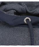 Shisha Eksig Hooded Pullover Navy Marine Striped S