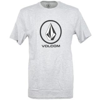 Volcom Crisp Stone Basic Herren T-Shirt Heather Grey