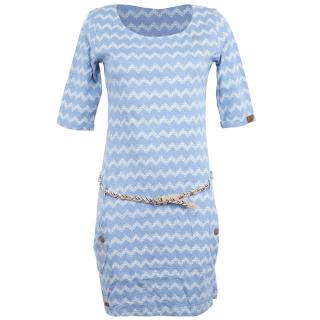 Ragwear Tanya Zig Zag Kleid Blue
