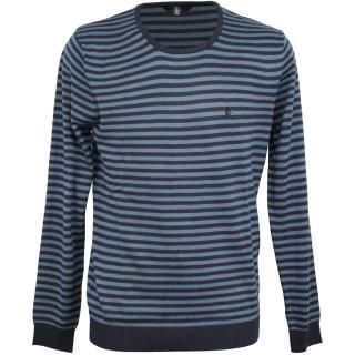 Volcom Uperstand Stripe Swt Strickpullover Sweater Navy