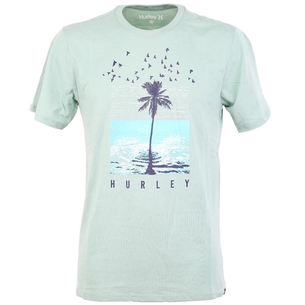 Hurley Dri Fit Palmwater T Shirt Silver Pine