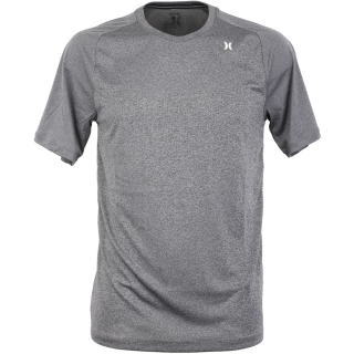 Hurley Quick Dry Warp Knit T-Shirt Heather Black L