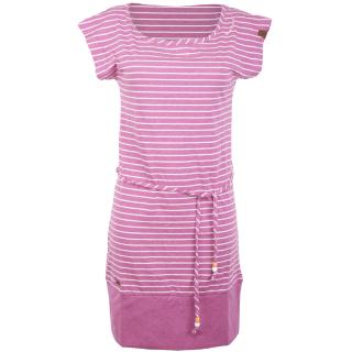 Ragwear Soho Stripes Kleid Magenta