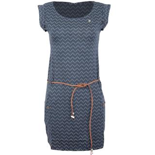Ragwear Tag Zig Zag Kleid Denim Blue S