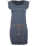 Ragwear Tag Zig Zag Kleid Denim Blue XL