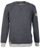 Noorlys Pontus Sweater Pullover Marine Striped Ash