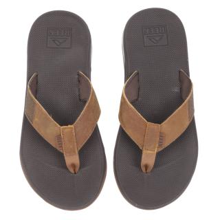 Reef Leather Fanning Low Sandale Herren Slap Brown braun 42