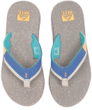 Reef Fanning Low Sandale Herren Slap Tan Blue