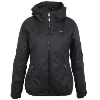 Ragwear Dizzie Damen Jacke mit Kapuze Black schwarz L