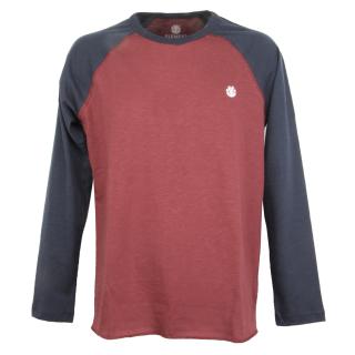 Element Blunt Langarmshirt Vintage Red M