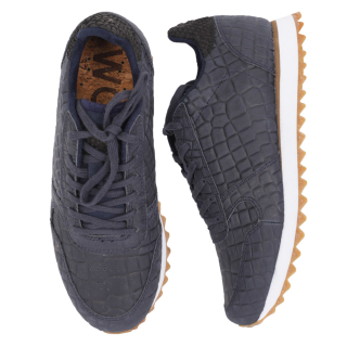 Woden Ydun Croco II Sneaker Damen Schuh Navy 39