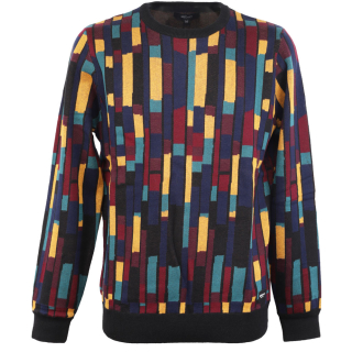Iriedaily Patcheo Knit Pullover Navy Red