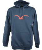 Cleptomanicx Möwe Hooded Herren Pullover Blue Wing