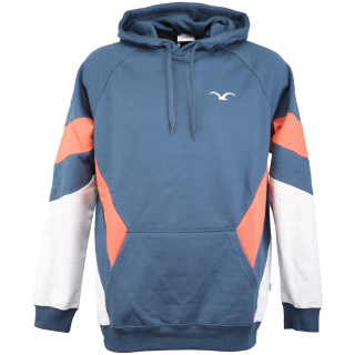 Cleptomanicx That is That Hooded Pullover Blue Wing M
