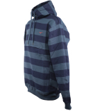 Cleptomanicx Hooded Stripe Pullover Blue Wing
