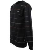 Cleptomanicx Multistripe Crewneck Pullover Black schwarz
