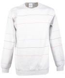 Cleptomanicx Multistripe Crewneck Pullover Light Heather...