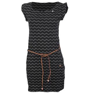 Ragwear Tag Chevron Kleid Black schwarz