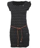 Ragwear Tag Chevron Kleid Black schwarz S