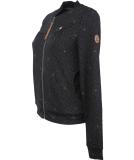 Ragwear Kenia Print Sweatjacke Damen Black schwarz L