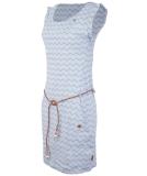 Ragwear Tag Chevron Kleid Blue M
