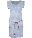 Ragwear Tag Chevron Kleid Blue L