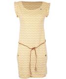 Ragwear Tag Chevron Kleid Yellow S