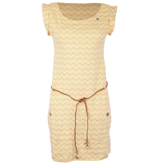 Ragwear Tag Chevron Kleid Yellow L