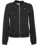 Ragwear Kenia Print Sweatjacke Damen Black schwarz XS