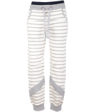 Noorlys Weeken Pant Damen Jogginghose Beige Ash Striped Ash