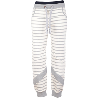 Noorlys Weeken Pant Damen Jogginghose Beige Ash Striped Ash XL