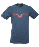 Cleptomanicx Möwe T-Shirt Basic Blue Wing L